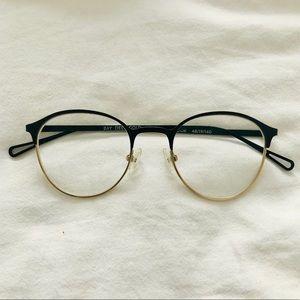 BONLOOK Eyeglasses Gold Black Glasses Frames